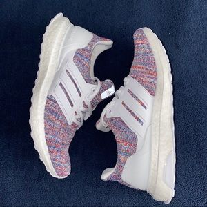 adidas Ultra Boost - White Multi Color (Youth) - 5
